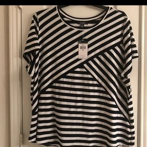 Chaps striped short sleeve top